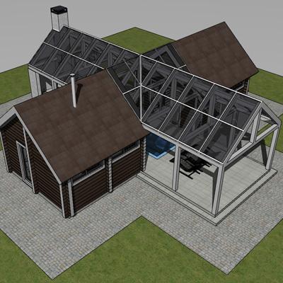 """Проект банного комплекса с жилыми помещениями """"4zone-X"""""""